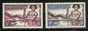 Wallis and Futuna Islands 150-1 1957 Islander set MNH