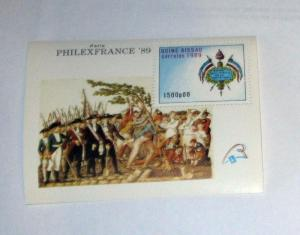 Guinea Bissau - 810 MNH S/S. Arms, France. SCV - $5.00
