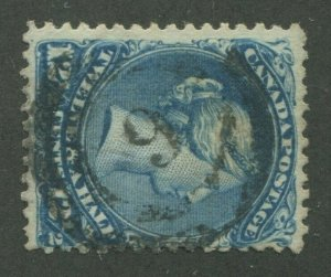CANADA #28 USED LARGE QUEEN 2-RING NUMERAL CANCEL 9