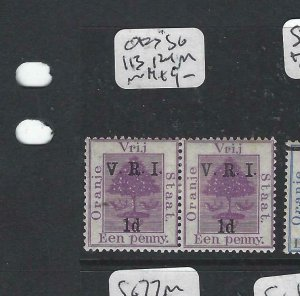 ORANGE FREE STATE (P0107B)  SG 113+121  IN PAIR  MOG