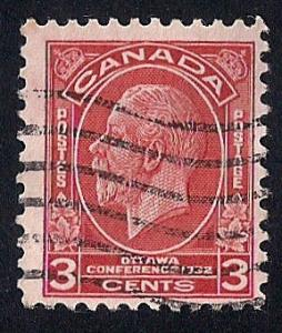 Canada #192 3 cent King George 5, Stamp used F