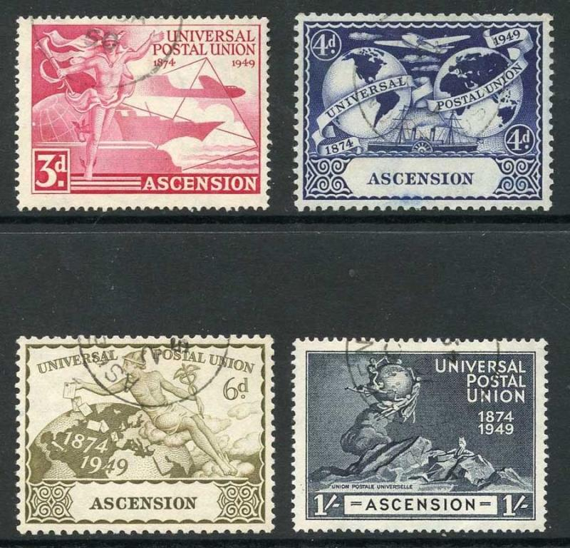 Ascension SG52/5 1949 KGVI UPU Set Very Fine Used