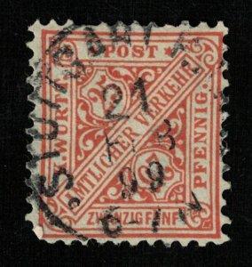 1881-1902, Inscription Amtlicher Verkehr, Germany, 25 Pfennig. (T-8203)