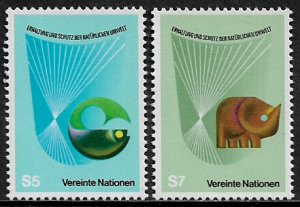UN, Vienna #28-9 MNH Set - Conservation and Protection