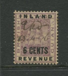 STAMP STATION PERTH British Guiana #118 - Revenue Overprint Used Wmk 2 CV$8.50
