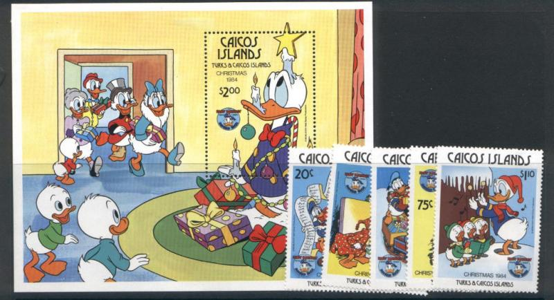 Caicos Islands 54-9 MNH Disney, Christmas, Donald Duck