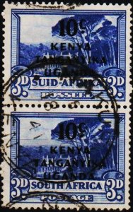 K.U.T. 1941 10c on 3d(Pair) S.G.152 Fine Used