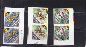 1967, Ghana: Sc #315-317, International Tourist Year, MNH, Imperf Pairs (S18145)