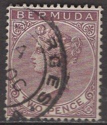 Bermuda; 1898: Sc. # 21: O/Used Single Stamp