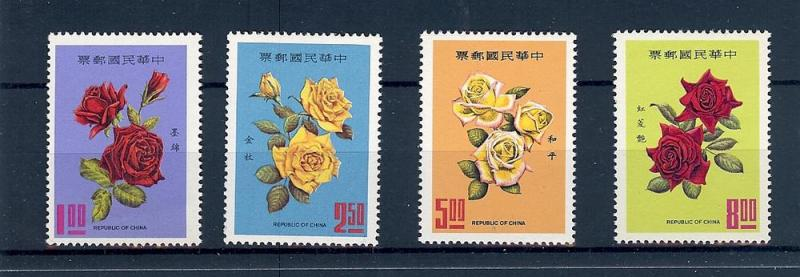 China (Republic), 1628-31, Flowers - Roses Singles,**MNH**