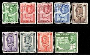 Somaliland 1942 KGVI p/set (9v.) mint