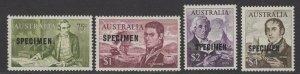 AUSTRALIA SG400/3s 1966 NAVIGATORS DECIMAL SPECIMEN SET MNH