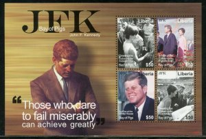 LIBERIA JOHN F. KENNEDY THE BAY OF PIGS   SHEET  MINT NEVER  HINGED