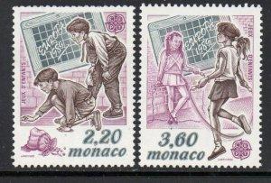 Monaco Sc  1682-83 1989 Europa stamp set mint  NH