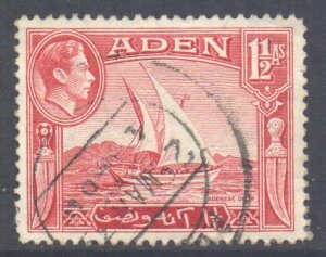 Aden Scott 19 - SG19, 1939 George VI 1.1/2a used