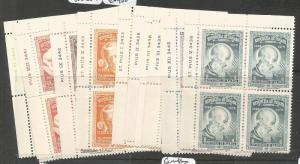 Panama 1972 Popes Set Unissued Blocks of 4 MNH (7czi)