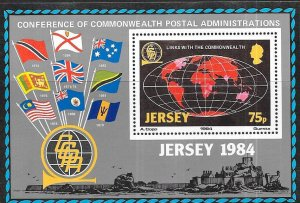 Jersey #329  Postal Link With The Commonwealth   (MNH) S/S CV $2.50