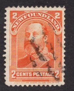 Newfoundland  #81  used   1897  Edward VII  2 c  orange
