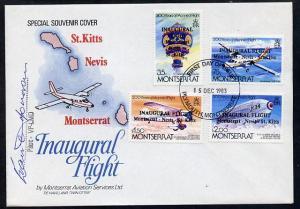 Montserrat 1983 Manned Flight set of 4 opt'd 'Inaugural F...