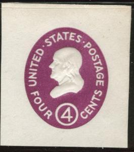 US Envelope cut square Scott U536