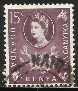 Kenya, Uganda & Tanzania 1960 Scott# 122 Used