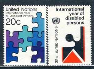United Nations N.Y.; 1981: Sc. # 344-345: **/MNH Cpl. Set