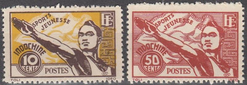 Indochina #241-2 MNH F-VF CV $5.15  (S107L)