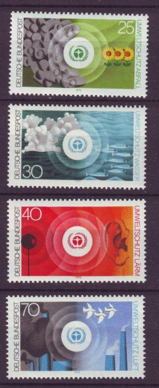 J21682 Jlstamps 1973  germany set mnh #1119-22 environment