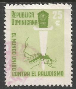 DOMINICAN REPUBLIC 560 VFU INSECT A107-1