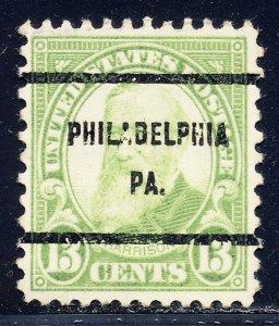 Philadelphia PA, 694-61 Bureau Precancel, 13¢ Harrison