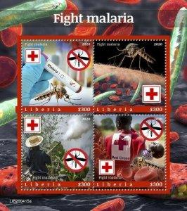 2020/10- LIBERIA - FIGHT MALARIA       4V    MNH **