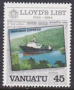 Vanuatu #371 single F-VF Mint NH ** Brahman Express (ship)