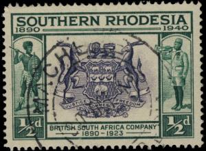 SOUTHERN RHODESIA - 1941 - SG53 CANCELLED MACHEKE DOUBLE CDS