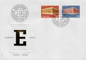 Switzerland, First Day Cover, Europa