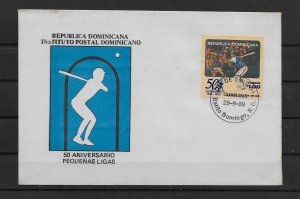 DOMINICAN REPUBLIC STAMP COVER #SEPTG11