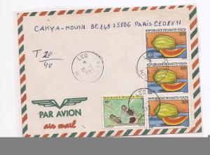 Upper Volta 1993 A/M 10F insect, 20F Fruit x 3 (bab)