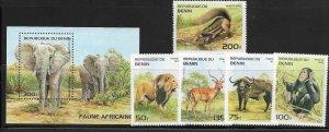 Benin 774-79 Wild Animals Mint NH