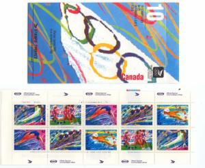 Canada USC #Bk146a 1992 Winter Olympics VF-NH Booklet (#1403ax2)