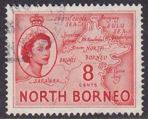Malaya (North Borneo) 1954 SG377 Used