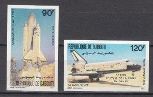 DJIBOUTI SC# C149-C150 COLUMBIA SPACE SHUTTLE MNH - IMPERF