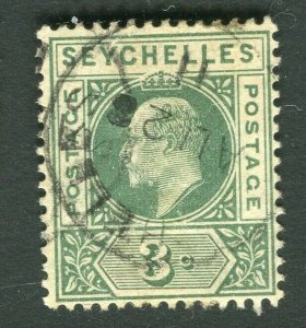 SEYCHELLES; 1903 early Ed VII issue fine used 3c. value