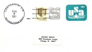 United States, Iowa, United States Postal Stationary