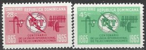 Dominican Republic   C144-5    MNH   ITU Centenary
