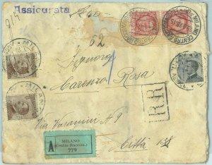 87275 - REGNO Michetti - STORIA POSTALE - BUSTA ASSICURATA  da Milano 1928