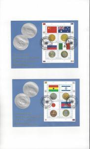 UN New York 920 FDC Geneva Cachet Coins & Flags 2006