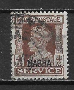 India - Convention States Nabha o47 4A KGVI single Used