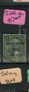 MALAYA JAPANESE OCCUPATION PERAK (PP2508B) 50C DN SG J251    VFU