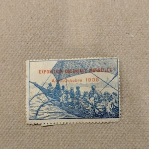 France - Exposition Coloniale Marseille 1906 Cinderella, CV $7.75