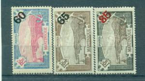 Martinique sc# 111-113 mh cat value $3.85