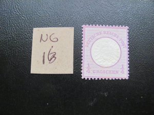 GERMANY 1872 NO GUM MI.NR. 16 LARGE SHIELD SINGLE